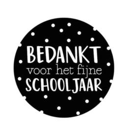 Sticker | bedankt voor het fijne schooljaar 40mm