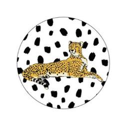 "Sticker ""leopard"" 40mm"