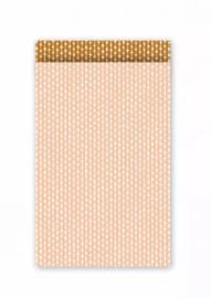 Cadeauzakjes   Connecting dots blush/roest 12x19cm (per 5)