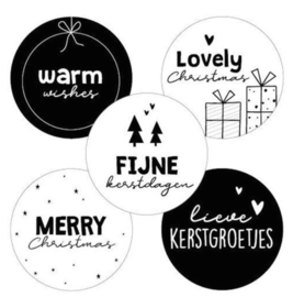 Sticker   kerstdagen assorti (per 10)