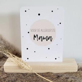 Moederdagkaart A6 | allerliefste mama (neutral)