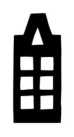 Huisje 2 (8x19cm)