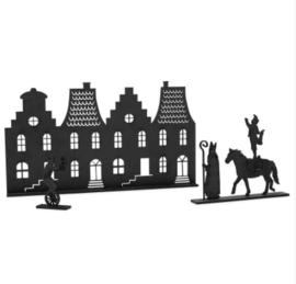 Grachtenpandjes met Sint en paardenpiet