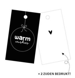Cadeaulabel | warm wishes (per 5)