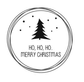 Raamsticker   ho, ho, ho, merry christmas