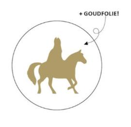 """Sticker """"Gouden Sint"""" 40mm"""