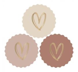 Sticker   multi hart (per 10)