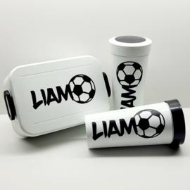 Sticker lunchbox-/beker   voetbal