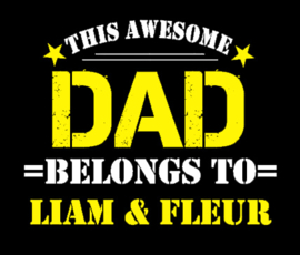 "T-shirt ""Awesome DAD"" VOLWASSEN MATEN"