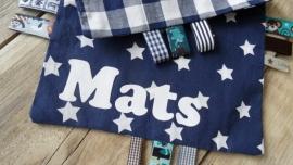 """Labeldoekje """"Mats"""""""