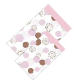 Cadeauzakjes | Dots pink 12x19cm (per 5)