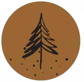 Muurcirkel denneboom hazel bruin 30cm
