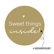 "Sticker ""sweet things goudfolie"" 40mm"