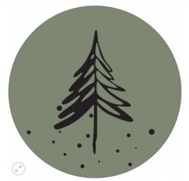 Muurcirkel denneboom olijfgroen 30cm