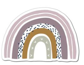 Muurcirkel regenboog 28,6x20cm
