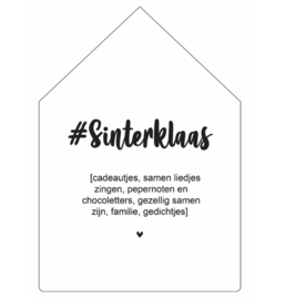 Sinterklaas | huisje #sinterklaas 30cm