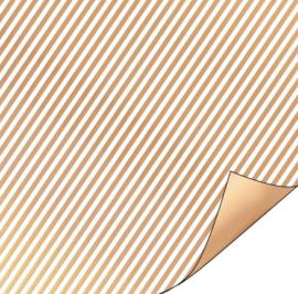 Inpakpapier   stripes of gold  30cm breed