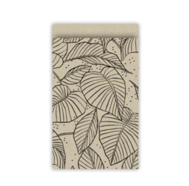 Cadeauzakjes | lovely leaves 12x19cm (per 5)