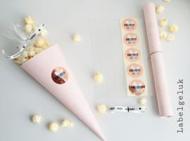 DIY pakket | puntzak met versiersels roze (5 stuks)