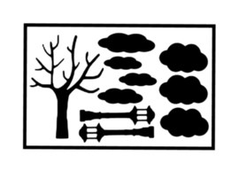 Uitbreiding   wolken, boom & lantaarns
