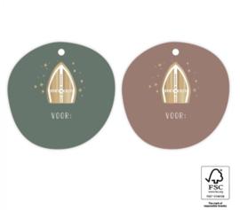 Sinterklaas | cadeaulabel mijter (per 2)