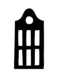 Huisje 3 (8x16cm)