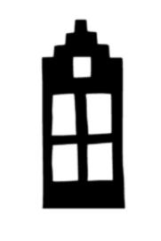 Huisje 4 (8x18cm)