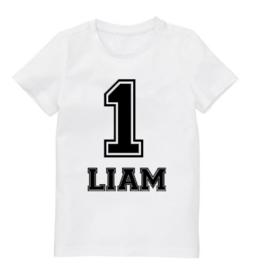 """Shirt """"Cijfer + Eigen naam"""""""