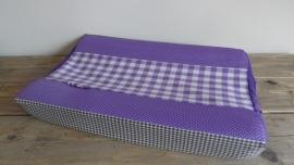 Aankleedkussenhoes paars/taupe