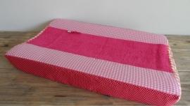 Aankleedkussenhoes roze/rood/oranje