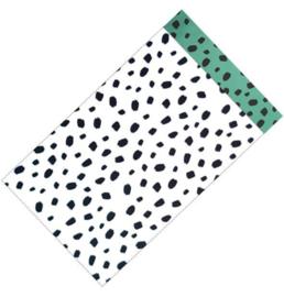 Cadeauzakjes | Dots wit-zwart-groen 12x19cm (per 5)