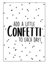 Kaart A6 | add a little confetti to each day