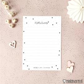 Miekinvorm | notitieblok A6 wat ben je mooi vandaag