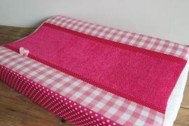 Aankleedkussenhoes fuchsia/roze