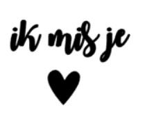 """DIY sticker """"ik mis je"""""""