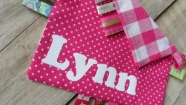 """Labeldoekje """"Lynn"""""""