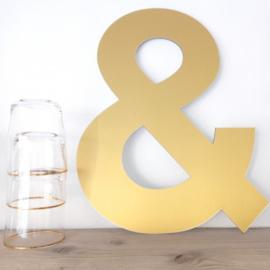 Luxe goudkleurig & teken 40cm
