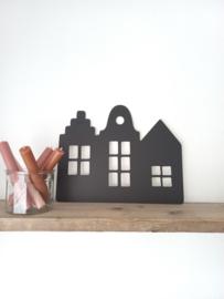 Sinterklaas | trapgevel huisjes zwart
