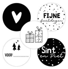 Sticker   feestdagen assorti (per 10)