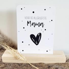 Moederdagkaart A6 | allerliefste mama