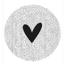 Muurcirkel | hart dots 30cm