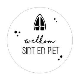 Muurcirkel | welkom Sint en Piet 20cm