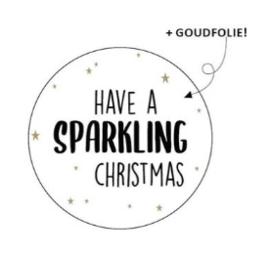"Sticker ""sparkling christmas"" 40mm"