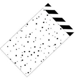 Cadeauzakjes   Confetti / diagonale streep 12x19cm (per 5)