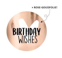 Sticker | birthday wishes 40mm