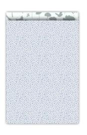 Cadeauzakjes  | Spring  blauw/salie 17x25cm (per 5)