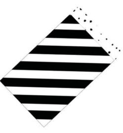 Cadeauzakjes   Diagonale streep / confetti 12x19cm (per 5)