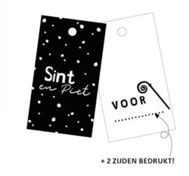 Cadeaulabel | sint & piet (per 5)