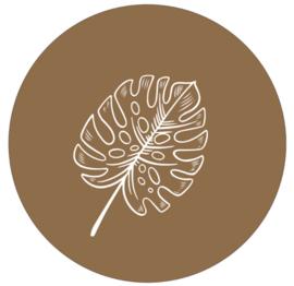 Muurcirkel tropical warm bruin 30cm