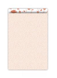 Cadeauzakjes    Spring  peach/roest 17x25cm (per 5)